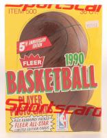 1990 Fleer Basketball Hobby Box of (36) Packs at PristineAuction.com