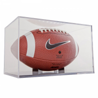 Football BallQube Display Case (New) at PristineAuction.com