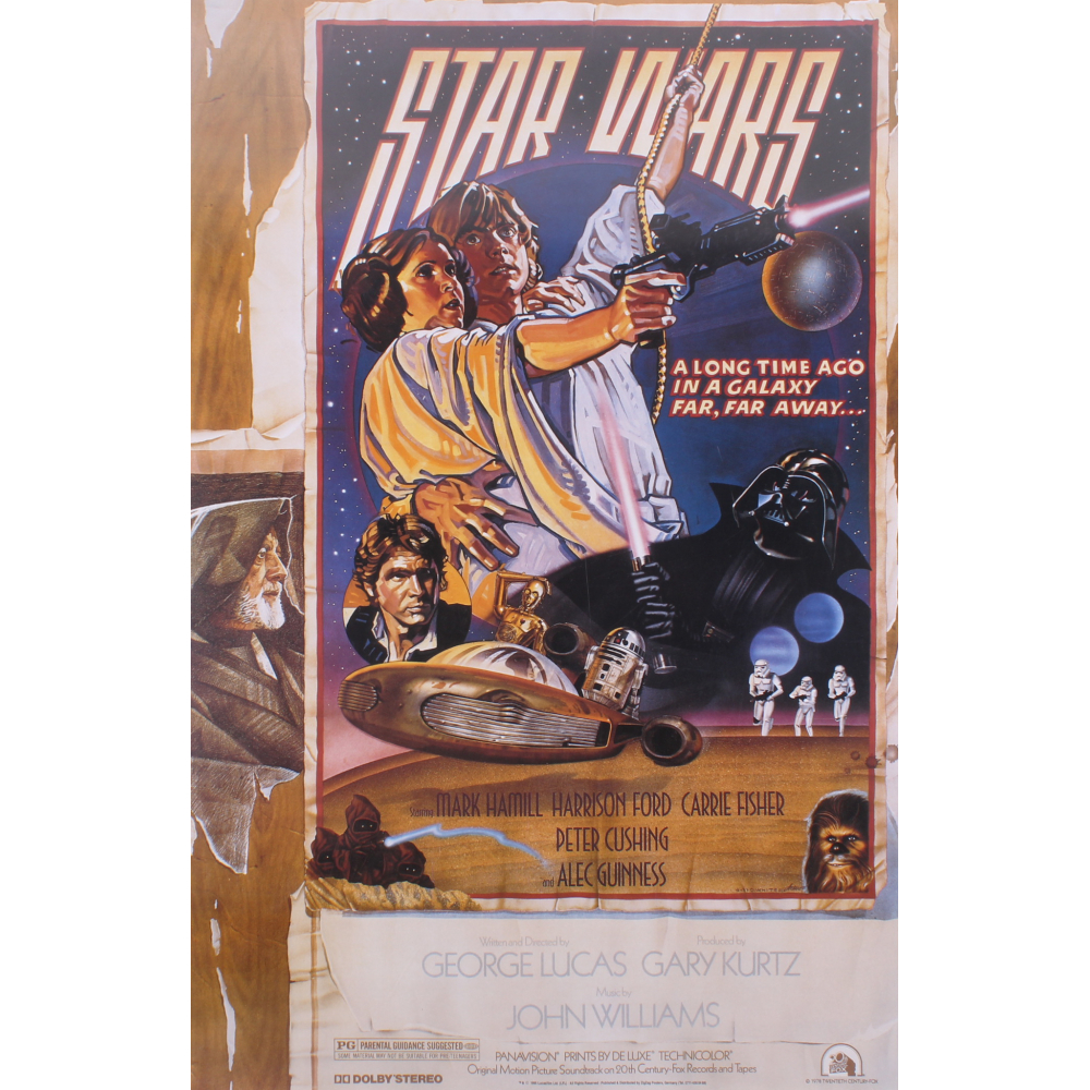 Star Wars Episode Iv A New Hope 27x40 Movie Poster Pristine Auction