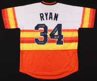 Nolan Ryan Signed Astros Jersey With Multiple Inscriptions (Nolan Ryan Hologram) at PristineAuction.com