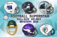 Schwartz Sports Football Superstar Signed Full Size Football Helmet Mystery Box – Series 14 (Limited to 75) at PristineAuction.com