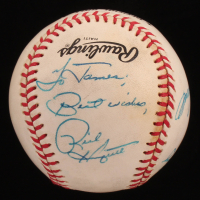 Dodgers Stars ONL Baseball Signed by (4) with Rick Honeycutt, Tom Niedenfuer, Ed Vande Berg & Bill Russell (Sports Cards LOA) at PristineAuction.com