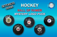 Schwartz Sports EXTREME ODDS – Hockey Hall of Famer Signed Hockey Puck Mystery Box –Series 3 (Limited to 25) - 25 Different Hall of Famers!! at PristineAuction.com