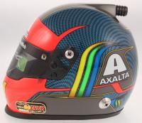 Jeff Gordon Signed NASCAR Limited Edition Axalta Rainbow 1:3 Scale Mini-Helmet (Gordon Hologram) at PristineAuction.com