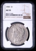 1900 Morgan Silver Dollar (NGC AU55) at PristineAuction.com