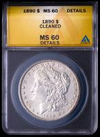 1890 Morgan Silver Dollar (ANACS MS60 Details) at PristineAuction.com