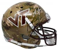 Michael Vick Signed Virginia Tech Hokies Hydro-Dipped Full-Size Helmet (JSA COA) at PristineAuction.com