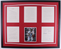 Pete Rose Twice-Signed Dowd Report 34x42 Custom Framed Document & Photo Display (JSA COA & Fiterman Hologram) at PristineAuction.com