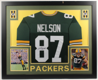 Jordy Nelson Signed 35x43 Custom Framed Jersey (JSA COA) (Imperfect) at PristineAuction.com