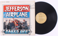 """Jefferson Airplane """"Takes Off"""" Vinyl Record Album Signed By (4) With Paul Kantner, Marty Balin, Jorma Kaukonen & Jack Casady (JSA COA) at PristineAuction.com"""