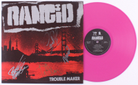 "Rancid ""Trouble Maker"" Vinyl Record Album Signed By (4) With Tim Armstrong, Lars Frederiksen, Matt Freeman & Branden Steineckert (JSA COA) at PristineAuction.com"