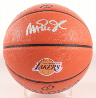 Magic Johnson Signed Official NBA Game Ball Series Lakers Logo Basketball (Schwartz COA) at PristineAuction.com