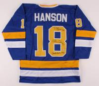 Jeff Carlson, Steve Carlson & David Hanson Signed Jersey (Beckett COA) at PristineAuction.com