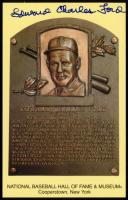 Edward Charles Ford Signed Gold Hall of Fame Plaque Postcard (JSA COA) at PristineAuction.com