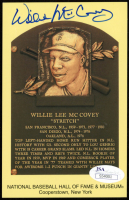 Willie McCovey Signed Gold Hall of Fame Plaque Postcard (JSA COA) at PristineAuction.com