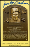 Sparky Anderson Signed Gold Hall of Fame Plaque Postcard (Stacks of Plaques COA) at PristineAuction.com