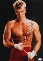 "Dolph Lundgren Signed ""Rocky IV"" 11x14 Photo (AutographCOA COA) at PristineAuction.com"