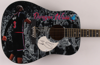 Dwayne Wade Signed Heat Acoustic Guitar (JSA COA) at PristineAuction.com