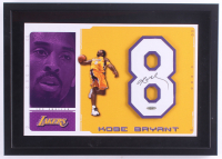Kobe Bryant Signed Lakers 14x20 Custom Framed Jersey Number Display (Upper Deck COA) at PristineAuction.com