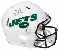 Vinny Testaverde Signed Jets Full-Size Authentic On-Field Matte White Speed Helmet (JSA COA) at PristineAuction.com