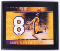 Kobe Bryant Signed Lakers 20x24 Custom Framed Jersey Number Display (Upper Deck COA) at PristineAuction.com