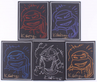 """Lot of (5) Kevin Eastman Signed """"Teenage Mutant Ninja Turtles"""" 8x10 Canvases With Hand-Drawn Sketches (JSA COA) at PristineAuction.com"""
