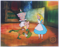 """Walt Disney's """"Alice In Wonderland"""" 11x14 LE Serigraph With Colored Background at PristineAuction.com"""