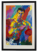 Muhammad Ali & Leroy Neiman Signed LE 36x52 Custom Framed Serigraph Display (Beckett LOA) at PristineAuction.com