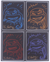 "Lot of (4) Kevin Eastman Signed ""Teenage Mutant Ninja Turtles"" 8x10 Canvases With Hand-Drawn Sketches (JSA COA) at PristineAuction.com"