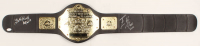 "Edge & Beth Phoenix Signed WWE Word Heavyweight Champion Belt Inscribed ""HOF 2017"" & ""HOF 2012"" (JSA COA) at PristineAuction.com"