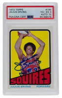 Julius Erving Signed 1972-73 Topps #195 RC (PSA Encapsulated) at PristineAuction.com