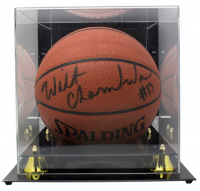 Wilt Chamberlain Signed NBA Basketball with Display Case (Beckett LOA) at PristineAuction.com
