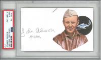 John R. Alison Signed 3x5 Cut (PSA Encapsulated) at PristineAuction.com