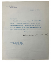 Theodore Roosevelt Signed Letter (Beckett LOA) at PristineAuction.com