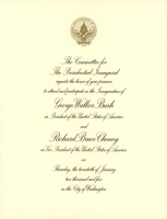 George W. Bush 2005 Inauguration Invitation at PristineAuction.com