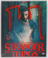 """Millie Bobby Brown Signed """"Stranger Things"""" 16x20 Canvas Print Inscribed """"011"""" (Beckett Hologram) at PristineAuction.com"""