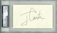 Jimmy Carter Signed 3x5 Cut (PSA Encapsulated) at PristineAuction.com