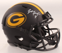 Brett Favre Signed Packers Eclipse Alternate Speed Mini Helmet (Radtke Hologram & Schwartz Sports COA) at PristineAuction.com