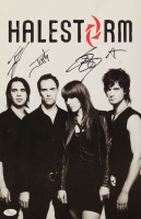"""Halestorm"" Signed 11x17 Photo Band-Signed by (4) with Lzzy Hale, Arejay Hale, Joe Hottinger & Josh Smith (JSA COA) at PristineAuction.com"