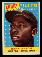 Hank Aaron 1958 Topps #488 All-Star at PristineAuction.com