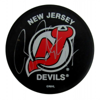 Brian Rolston Signed Devils Logo Hockey Puck (JSA COA) at PristineAuction.com