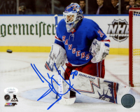 Henrik Lundqvist Signed Rangers 8x10 Photo (JSA COA) at PristineAuction.com