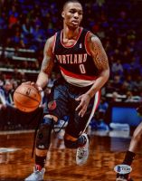 Damian Lillard Signed Trail Blazers 8x10 Photo (Beckett COA) at PristineAuction.com