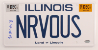 """Alan Ruck Signed """"Ferris Bueller's Day Off"""" Illinois License Plate (Schwartz COA) at PristineAuction.com"""
