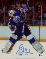 "Grant Fuhr Signed Oilers 8x10 Photo Inscribed ""HOF 03"" (Beckett COA) at PristineAuction.com"