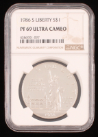 1986-S $1 Ellis Island Statue of Liberty Commemorative Silver Dollar (NGC PF69 Ultra Cameo) at PristineAuction.com