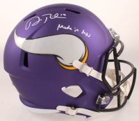 "Adam Thielen Signed Vikings Full-Size Speed Helmet Inscribed ""Made In MN"" (TSE COA) at PristineAuction.com"