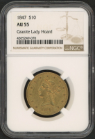 1847 $10 Ten Dollars Liberty Head Eagle Gold Coin (NGC AU 55) at PristineAuction.com