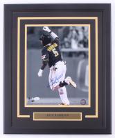Josh Harrison Signed Pirates 18x22.5 Custom Framed Photo Display (JSA COA) at PristineAuction.com
