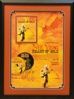 "Neil Young Signed ""Heart of Gold"" 19x25 Custom Framed Display (JSA LOA) at PristineAuction.com"